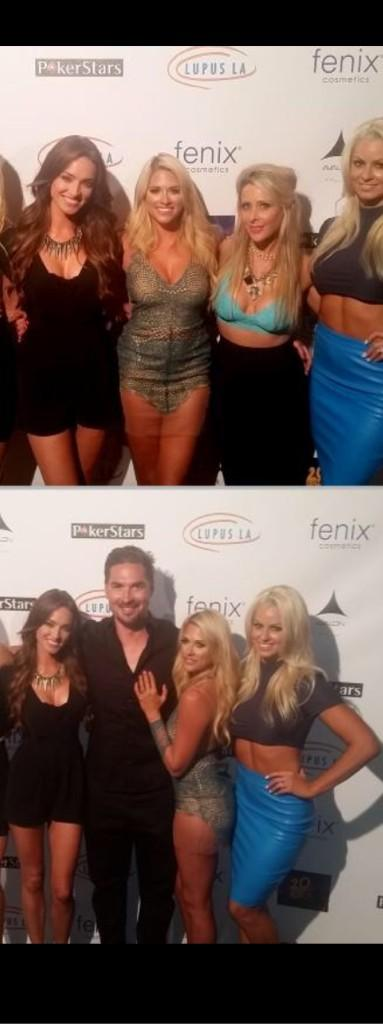 Great cause @LupusLA w/ great friends @TheBarbieBlank @SSouray @maryse0uellet Lost fifth wheel @mikethemiz to poker http://t.co/BOjYRKQe28
