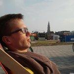 Relaxing with a view:-) Ebbingekwartier, Groningen http://t.co/GOl2sX6jFj