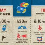 GAMEDAY! Heres todays schedule for all the action on the hill. http://t.co/19r1dqiTp8 #kufball http://t.co/k9ibSaeCc4