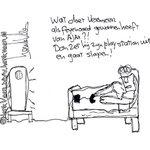Wat doet #vermeer als fey gewonnen heeft van #AJAX Dan zet hij zijn PS uit en gaat slapen #feyAJA http://t.co/5VFGa9DFSR