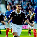 PIC: Jamie Walker celebrates after putting Hearts back in front against Cowdenbeath. http://t.co/rwQDdlS0tc