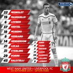 PHOTO: Full #LFC line-up and substitutes in our special matchday graphic… http://t.co/rQnlp7gWkH