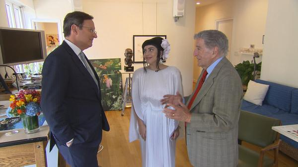 """This album will prove to her that she'll always be around,"" @ItsTonyBennett says of @LadyGaga. More on #CBSSunday. http://t.co/HKKmAM8sdV"
