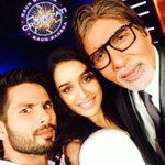 RT @shahidkapoor: on the hot seat for the jammu and kashmir pm relief fund at kbc @SrBachchan @ShraddhaKapoor #HaiderOnMyMind http://t.co/46qjUNfrs0