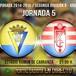 RT @portalcadista: Ya EN DIRECTO: Cádiz CF - Granada CF B Comenzó el partido. Síguelo en: http://t.co/g1A9ZIPQ2C http://t.co/rD9WbZJQ3s