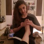 I feel like an old taxi which has clocked to many miles. Massage for my tired feet from Alia is the best gift ever!