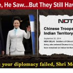 The Chinese President came,saw and left,but Chinese troops are still at the LAC.Has your diplomacy failed Shri Modi? http://t.co/KequhPcfib