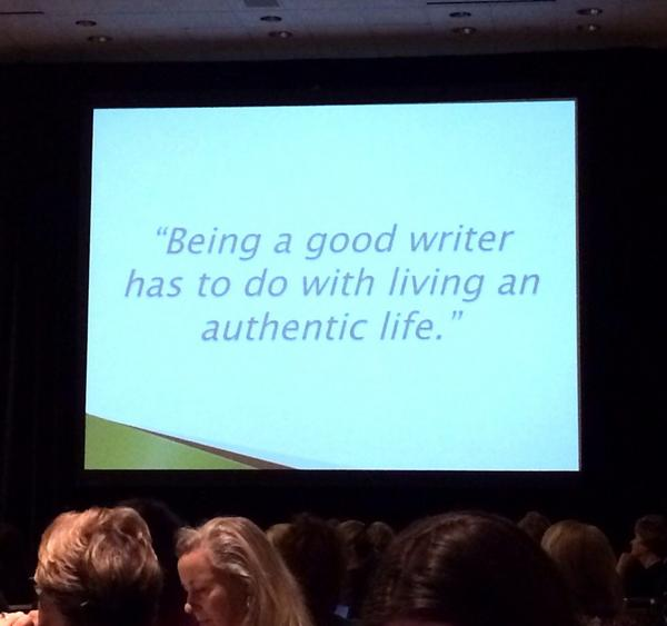 "#ifbc2014 ""being a good writer has to do with living an authentic life"" @KarenAndAndrew http://t.co/RYQ9SDWTr6"