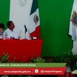 Alcalde de #Calakmul inicia lectura de mensaje, con motivo de su 2do. Informe de Gobierno. @ferortegab http://t.co/oTnsfAiAiE