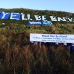RT @HillsHaveAyes: Thank you so much to all our followers. Its been pure magic. Ayell be back! #the45 #indyref http://t.co/zmC3orG66M