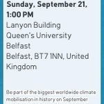 RT @SBelfastGreens: Be part of the biggest climate mobilisation the world has ever seen! #PeoplesClimate Picnic @ QUB #Belfast http://t.co/cl6S2APZx7