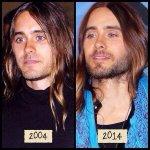 . @JaredLeto Maybe you explain your eternal youth? :)) 2004 / 2014 http://t.co/Goeys9WAAe