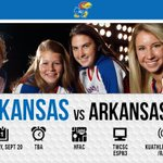 GAMEDAY! Lets close out the Jayhawk Classic right. See you soon or turn on @TWCSportsKC or @ESPN3! #kuvball http://t.co/kBDVH8xe2I
