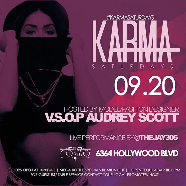 TONIGHT @Audddreeyy hosting #karmasaturdays @RichScampiLLC giveaways Come get SMASHED wit us!!! http://t.co/qyN6gxWWdi