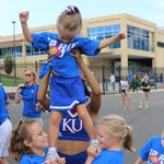 Gearing up for #kuspiritday in Memorial Stadium, it's not too late to join us! #kufball http://t.co/SPNf1kT4eL