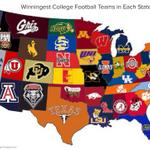 RT @FanObnoxious: Most college football wins by state. #RollTide http://t.co/soBV44Ik9d