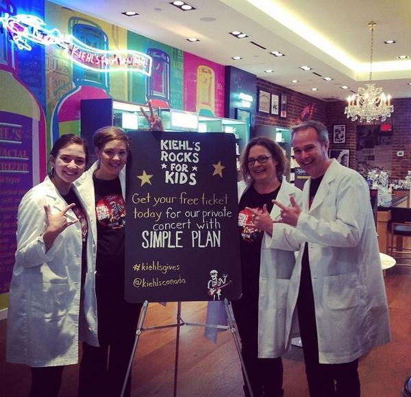 Make sure you stop by @kiehlscanada at #uppercanadamall today to get free #SimplePlan tickets! #KiehlsGives http://t.co/SGj940BEuu