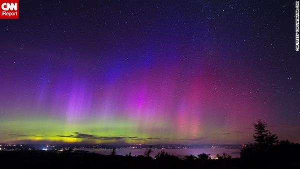 A solar storm created a rare opportunity to see the Northern Lights in Maine: http://t.co/wskrVTYo5h  by @vathsok http://t.co/eyeSuUq2Sb