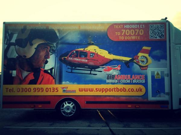 Saw the @TVACAA van out on Handy Cross this evening in High Wycombe. http://t.co/s7zsz3dn3X #charity #airambulance http://t.co/u3B5prd1ZI