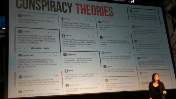 After death/rape threats, @femfreq then gets denial of hers (and women's) experience online #xoxofest http://t.co/MXyhvp8YoR