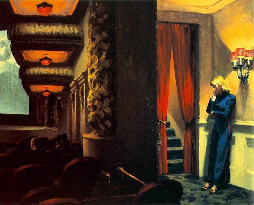 "RT @takis525: ""New York Movie"" (1939), Edward Hopper. http://t.co/OnMbcnpudx"