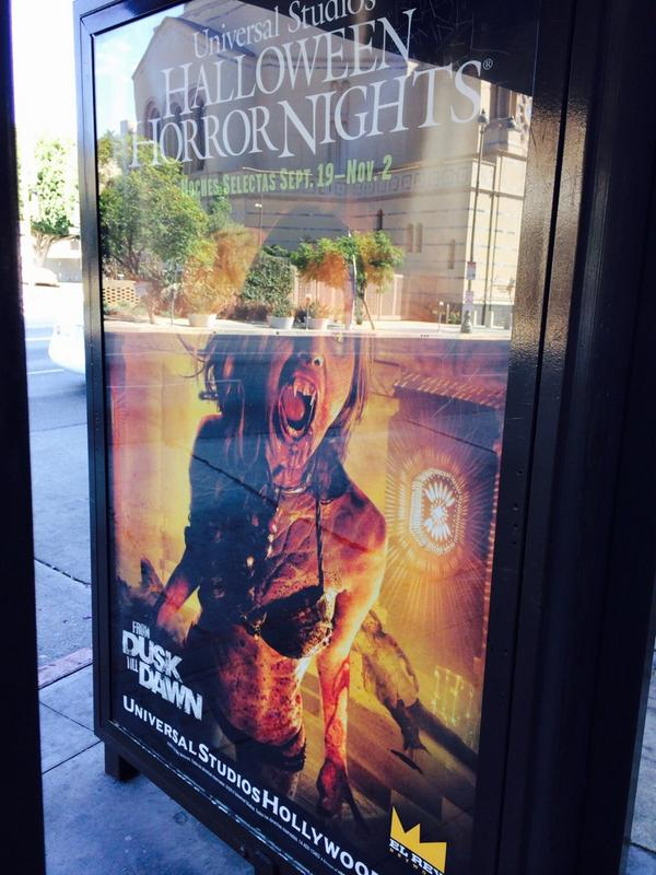 I just saw this. A poster of #Santanico here in the streets of LA. @DuskElRey @HorrorNights so proud @eizamusica http://t.co/5dI72tvvjb