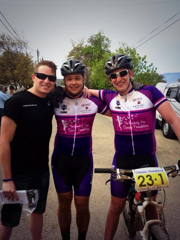 Well done my boys. Team Kimberly Rose Salushi has made us proud this weekend @Ride2Nowhere1 http://t.co/g4cqa9PbS7