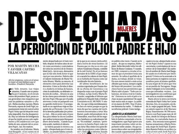 RT @Cronica_ElMundo: Los Pujol, desenmascarados por dos mujeres despechadas. Hoy en @Cronica_ElMundo, por @Mart1nMucha y @ClaveActualidad http://t.co/ry9jiePhbw