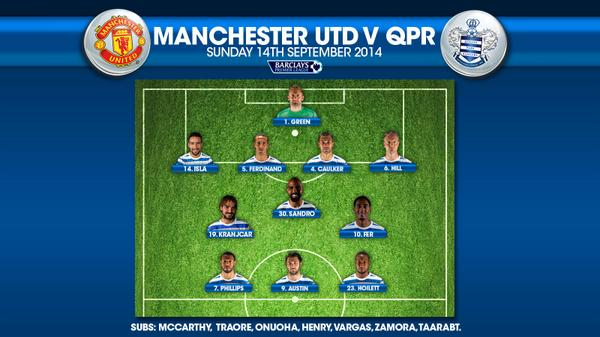 BREAKING #QPR TEAM NEWS #MUNvQPR http://t.co/ENV2gGDD1n