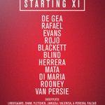 United XI v QPR: De Gea, Rafael, Evans, Rojo, Blackett, Blind, Herrera, Mata, Di Maria, Rooney, van Persie. #MUFClive http://t.co/TawGW8OWsC