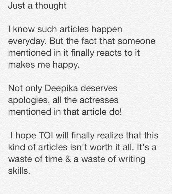 Just a small thought but I hope it will make u think twice before publishing that kind of things :) @TOIEntertain http://t.co/ob8IgrMPwC