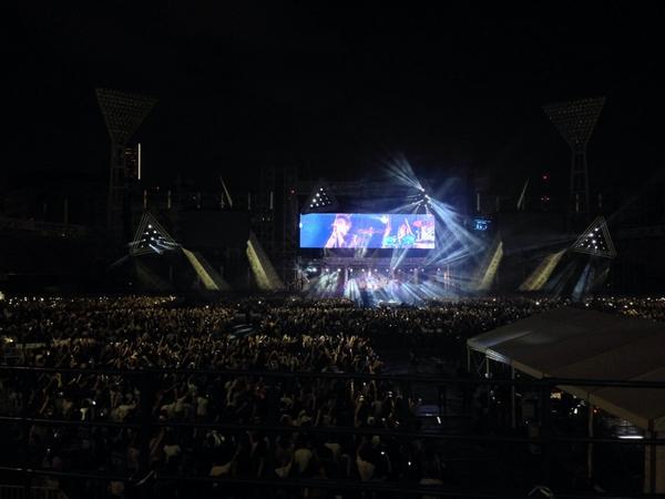 ワンオク横浜スタジアム終了なう!最高に熱い奴ら! http://t.co/PJ7Jhg4bvd