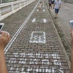 """""""@dpontefract: In Chongqing, China, there are cell phone walking lanes. #wow"""