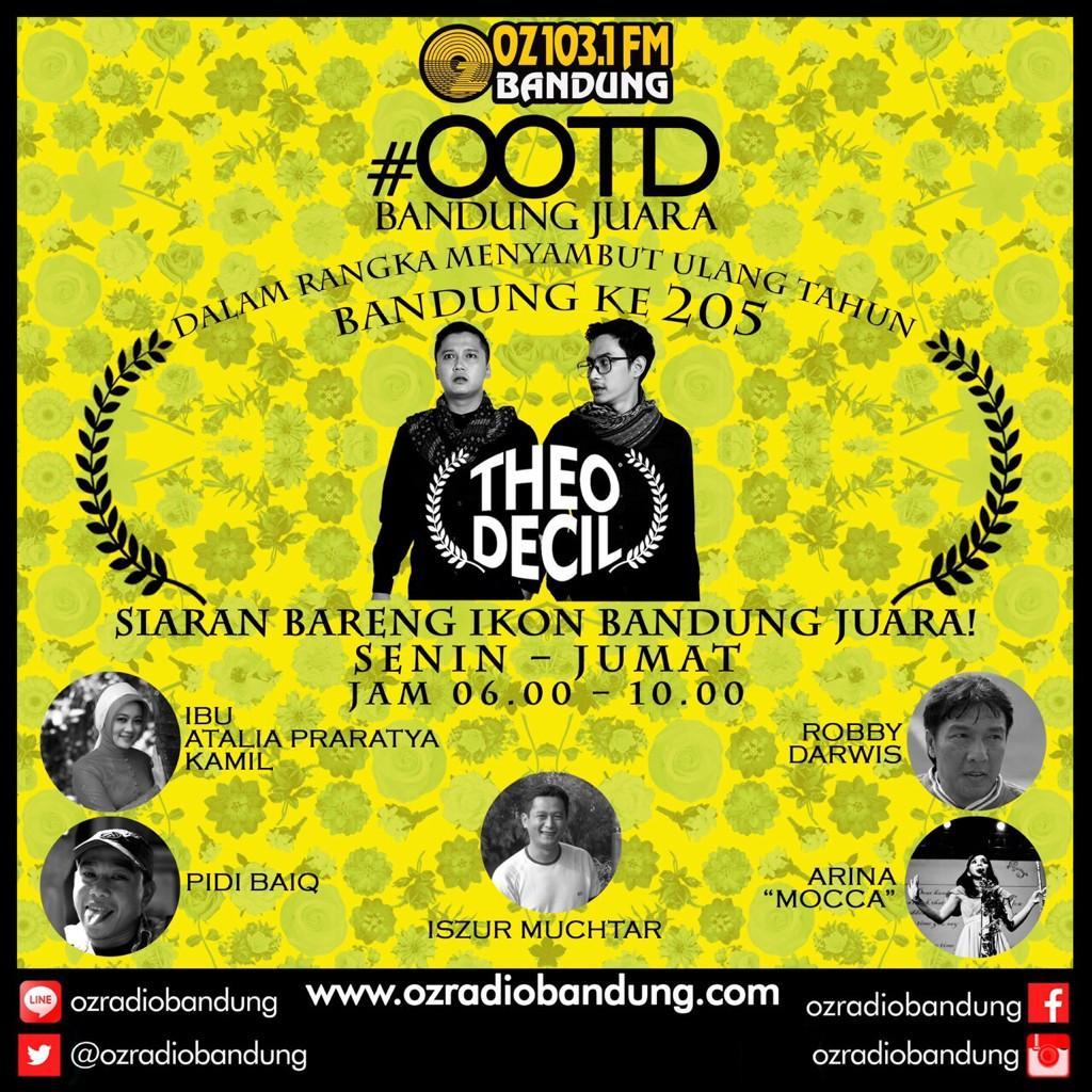 Mulai besok siaran pagi @ozradiobandung bareng @sidecil http://t.co/t5FeSfrTiE