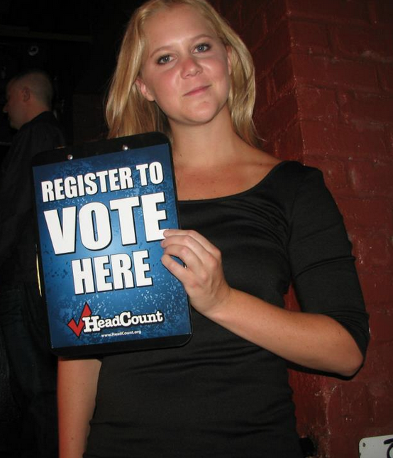 ATTN FAMOUS COMEDIANS! We're in bed w @headcountorg again for NatlVoterRegDay 9/23. Wanna be like @amyschumer? DM us! http://t.co/x8lYDoZpS9