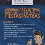 Durante los Festejos Patrios, determina un punto de reunión familiar en caso de extravíos #CelebraPuebla @PueblaAyto http://t.co/w1w2rp0Kux