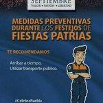 RT @SedesoPue: #CelebraPuebla llegando a tiempo a los festejos patrios, procurando llegar en transporte público #Puebla http://t.co/42l845b62V