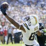 RT @ESPNNFL: HOW BOUT THEM CHARGERS?! San Diego defeats the champs 30-21. Rivers: 28-37, 284 yds, 3 TD Gates: 7 rec, 96 rec, 3 TD http://t.co/5gE828GAYE