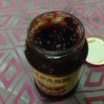 Now eating tamarind achar.