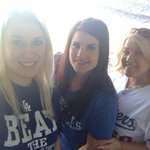 ????????????????RT @mericombs12 Me and my girls rocking our Dodger Blue in SF!! #BeatSF @Dodgers http://t.co/dfpNYQko6T