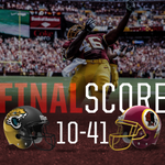 RT @Redskins: THATS A FINAL! #Redskins earn win No. 1 of 2014 with a 41-10 victory over the Jaguars! #HTTR http://t.co/ICjbG9aWTU
