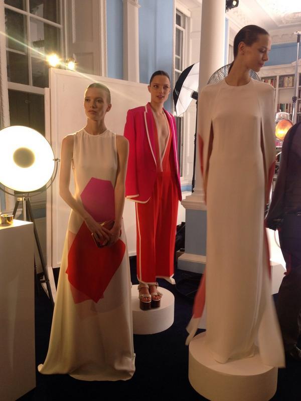 Some of the beautiful @StellaMcCartney     #GreenCarpetChallenge dresses on display at #GCCStella http://t.co/gFdZIG6ULk