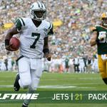 RT @nyjets: HALFTIME: Jets 21, Packers 16 #NYJvsGB Mid-game analysis from @eallenjets- http://t.co/g5kxU5wYEa http://t.co/Co3YyYAUrs