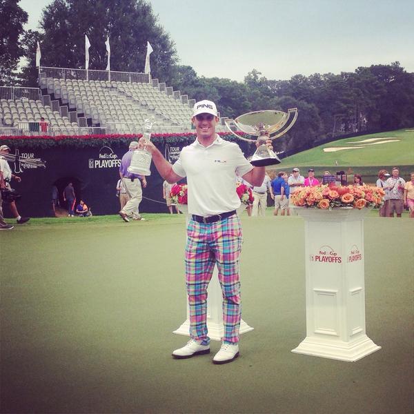 Billy Horschel has his hands full now! #FedExCup #TOURChamp @BillyHo_Golf http://t.co/uNmTO6cW0K