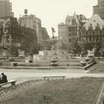 """Pulitzer Fountain of Abundance"" in Grand Army Plaza, New York c 1925 