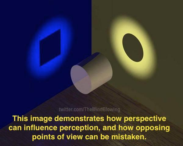 This image demonstrates how perspective can influence perception, and how opposing points of view can be mistaken. http://t.co/SnshJhaEoW