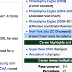 #nyjets Uh oh, somebody already updated Marty Mornhinwegs coaching resume on Wikipedia! (h/t @NickCatal) #Jets http://t.co/ySK1fiiqbV