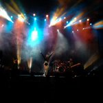 Ante un público emocionado inicia concierto de @Belanova #CelebraPuebla http://t.co/DtFPPOMolF