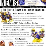 Get the headlines from #LSU s win over ULM in this weeks #TigerNews ! http://t.co/lyLaq37LoX