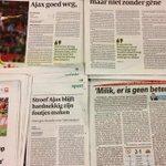 'Op koers gehouden door @ArekMilik9'. Wat schreven de kranten over #ajaher? Je leest het hier: http://t.co/cWwCksBrYy